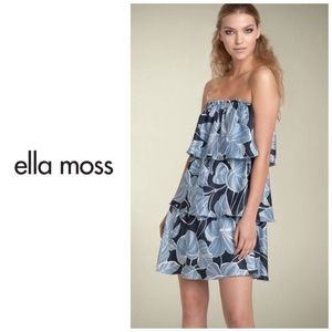 "Ella Moss black label ""Phoebe"" silk tiered dress"